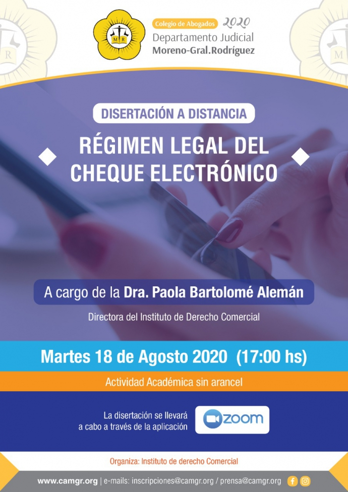 REGIMEN LEGAL DEL CHEQUE ELECTRONICO